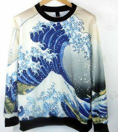 EAST Knitting Fashion New women pullovers 2014 harajuku style hoodies galaxy  spray sweatshirt PLUS SIZE e9f5bf8469