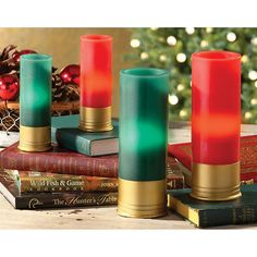Also use real shotgun shells to make candles (for the Hunter's birthday cake, etc.) see YouTube Video how-to.  AS