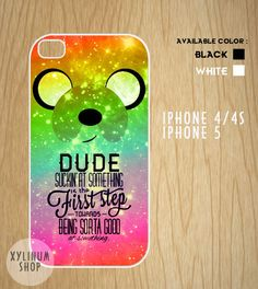 Adventure time quotes Case Available for Iphone 4 / 4s / 5 and Samsung Galaxy S3 and S4 on Etsy, $15.00