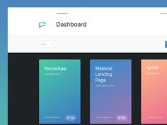 Dribbble - App Dashboard by Nathan Yates