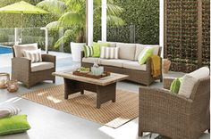 Outdoor Furniture – Cushions, Table, Chairs, Umbrellas & More | Harvey…
