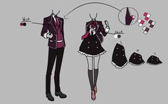Resource File by Asorra-Tatsumi on DeviantArt Manga Clothes, Drawing Anime Clothes, Dress Drawing, Character Outfits, Character Art, School Uniform Outfits, Uniform Ideas, Anime Comics, Vetements Clothing