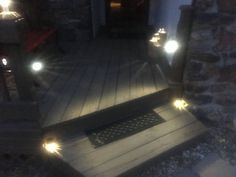 safer porch steps at night with easy solar light mods