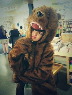 Photo: Peyton List Super Cute In A Bear Suit April 15, 2014
