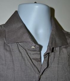 de0188997b36 Peter Millar Men s Gray Twill Sport Shirt Size XL  PeterMillar  ButtonFront  Xl Fashion