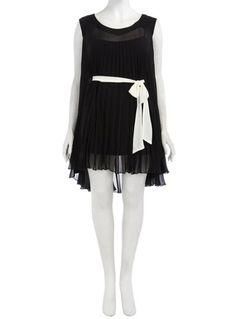 Black Pleated Dress with Tie Belt £59.50