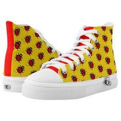 Ladybird Pattern Baseball Boots High Tops #legging #cats #elephant baseball girlfriend, baseball mom, baseball cards, dried orange slices, yule decorations, scandinavian christmas