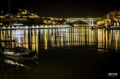 #PONTDOMLUIS #PORTO #IMAGEMNOTURNA Portugal, Douro, Photography, Port Wine, Landscape Photography, Boats, Photos, Ribe, Fotografie