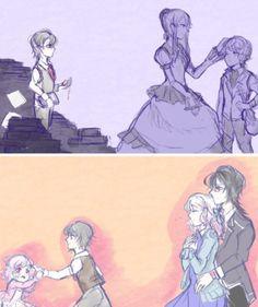 Parent's attention is really necessary for kids coz otherwise u turn out like reiji. lmao jk, reiji is great! Manga Anime, Fanarts Anime, Anime Art, Ruki Mukami, Reiji Sakamaki, Vampire Animes, Anime Love, Anime Guys, Vampires