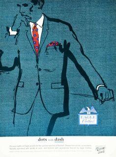 1964 Ad Vintage Eagle Clothes Businessman Suit Pindots Mad Men Fashion 60s Style - Original Print Ad Period Paper http://www.amazon.com/dp/B00HS3FSCW/ref=cm_sw_r_pi_dp_leoRub1S3HP71