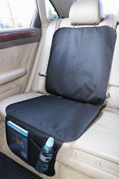 Kids Kindersitz Rückenlehnenschutz Unterlage Schutzmatte AutositzauflageSchwarz