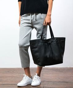 Refined Basics: Take the humble track pant to elevated heights and pair with fresh white sneakers and a luxe tote for a discretely chic look. #witcheryfirstedition