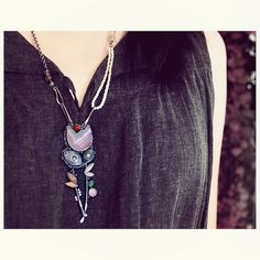 Blossoms necklace by 6shadowsjewelry on Etsy