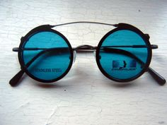 60's Clip On Steampunk Black Round Vintage by BackThennishVintage, $48.00