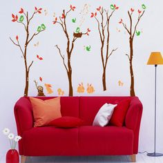 Fashionable Forest Art Mural Home DIY Wall Sticker Decal Decoration Wallpaper | eBay