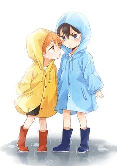 Chibi Hinata and Kageyama