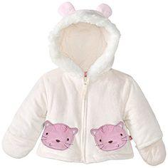 Wippette Baby-Girls Newborn Sweet Velboa Jacket, Cream, 6-9 Months Wippette