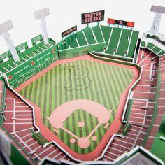 Boston Baseball, Boston Red Sox, Baseball Field, Fun Indoor Activities, Paper Store, Classic Board Games, Fenway Park, 3d Puzzles, Socks