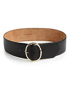 W. Kleinberg Textured Leather Belt