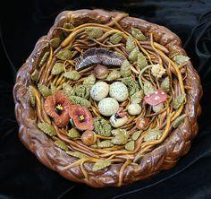 Dead dough birds nest