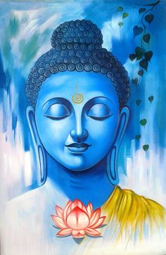 Great Buddha01 - 24in X 36in,ART_RHKA01_2436,Acrylic Color,Canvas,Artist Rajesh…