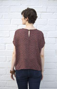 Lou Box top pattern, easy beginner pattern with Dolman sleeves.
