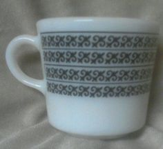 Vintage PYREX MINIATURE COFFEE MUGS - My newest addition to my collection ~ I just purchased these!