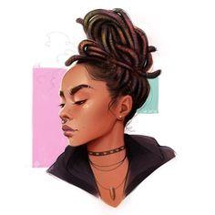 by Eric-Anthony Johnson Black Love Art, Black Girl Art, Anthony Johnson, Anthony Jones, Arte Black, Graffiti, Art Et Design, Afrique Art, Black Girl Cartoon