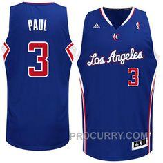 365be466c2c1 Chris Paul Los Angeles Clippers  3 Revolution 30 Swingman Blue Jersey