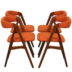"""Kai Kristiansen """"A"""" Frame Dining Chairs 