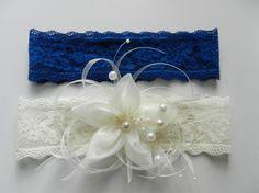 Wedding Garter, Bridal Garter, Garter, Wedding Garter Set, Bridal Garter Set, blue toss garter, ivory wedding garter, silk flower, pearl