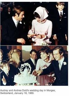 Audrey Hepburn second wedding on to Andrea Dotti, a Roman psychiatrist. Boda Audrey Hepburn, Audrey Hepburn Wedding, Audrey Hepburn Pictures, Divas, Emily Didonato, British Actresses, Classic Beauty, Timeless Beauty, Golden Age Of Hollywood