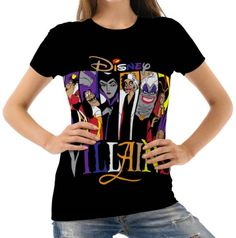 Disney-Villains-Womens-T-Shirt-Tee-S-M-L-XL-2XL-New