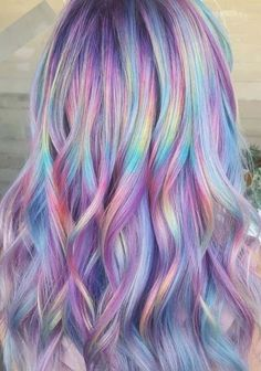 Pretty Shades Of Rainbow Hair Colors for Women in 2018 Are you searching for bets ever rainbow hair color shades to show off right now? Absolutely no need to worry at all because we have collected a list of most demanding shades of rainbow hair colors … Cute Hair Colors, Pretty Hair Color, Hair Color Shades, Beautiful Hair Color, Hair Color Purple, Hair Dye Colors, Rainbow Hair Colors, Rainbow Hair Highlights, Pastel Rainbow Hair