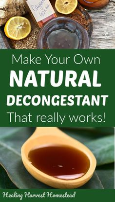 DIY BEST Decongestant that REALLY Works! How to Get Rid of a Stuffy Nose Naturally Natural herbal remedies are often the best to use for soothing and getting rid of stuffy noses and congestion. Here is a natural recipe for a decongestant made with honey & Cold Home Remedies, Natural Health Remedies, Natural Cures, Natural Healing, Herbal Remedies, Natural Treatments, Natural Foods, Natural Beauty, Natural Congestion Remedies