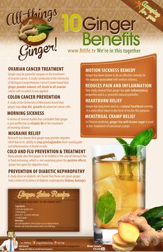 The Health Benefits of #Ginger   #Infographic