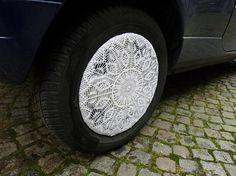 Crochet wheel covers!!  Pimp my ride.