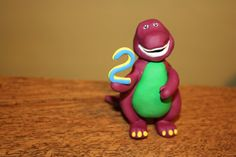 Barney Ornament / Cake Topper by ToppersForTheTree on Etsy