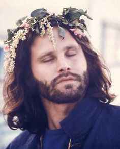 Jim Morrison Flowers in Hair 1960s - He looks like Aragorn. I thought he was Aragorn. I am ashamed.<--- Guilty.