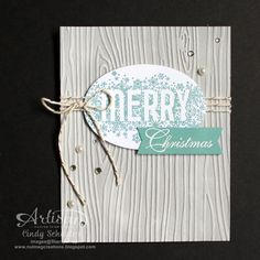 nutmeg creations: Seasonally Scattered Merry Card by Cindy Schuster