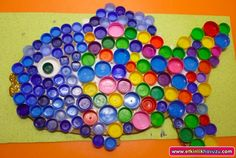 bottle cap fish craft  |   Crafts and Worksheets for Preschool,Toddler and Kindergarten