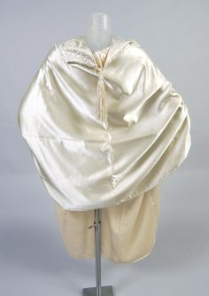 Philadelphia Museum of Art - Collections Object : Woman's Cape c. 1905  Medium: Ice-green silk satin, silk embroidery