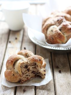 Mini Chocolate Chip Challah Buns from completelydelicious.com