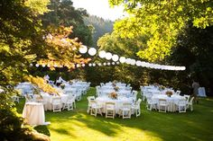 Outdoor reception. I love this!