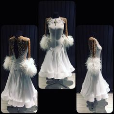Soft as snow and powerful as storm... ballroom dress created by #dlk_united_design #Design #ballroom #wdsf #ballroomdress #fashion #swarovski