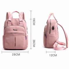 Laptop backpack for women waterproof USB charging backpack Material:Nylon Closure Type:Zipper Pattern Type:Solid Bags Structure:Interior Compartment Features:Laptop Pocket, Laptop Sleeve, water bottle pocket Type: Laptop Backpacks, School Bag, Travel Bag Backpack Purse, Laptop Backpack, Leather Backpack, Packing List Beach, Large Diaper Bags, Usb, Cute Backpacks, Best Travel Backpacks, Best Travel Bags