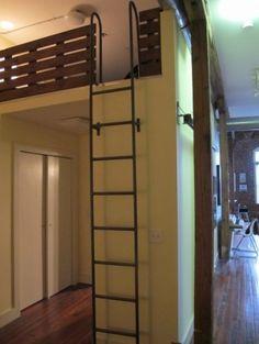 Study loft ladder idea