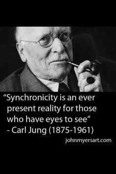 Synchronicity is there every day if you look for it