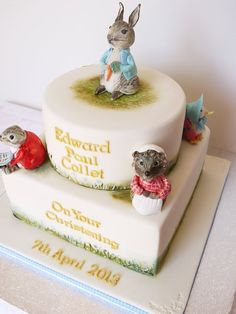 Beatrix Potter Christening Cake by Scrummy Mummy's Cakes (4/6/2013) View details here: http://cakesdecor.com/cakes/57039