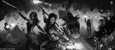 Elementalist versus Mesmer - Guild Wars 2 Fan Art by SkavenZverov.deviantart.com on @deviantART